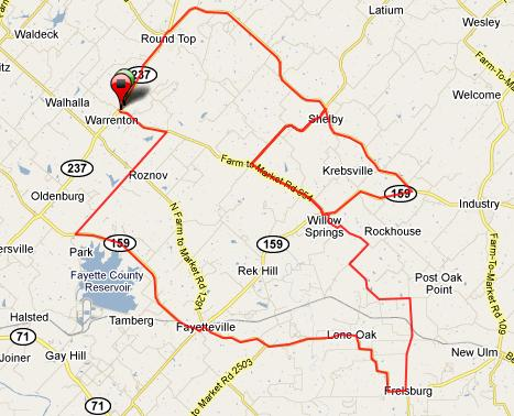 Google Maps for the 2010 Tri-County Hill Hopper