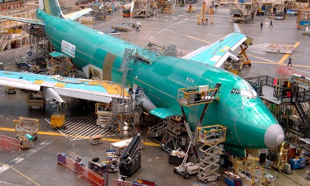 Boeing 747 assembly